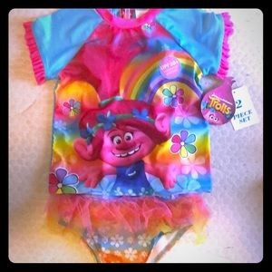 Other - NWT - Trolls 2 piece swimsuit